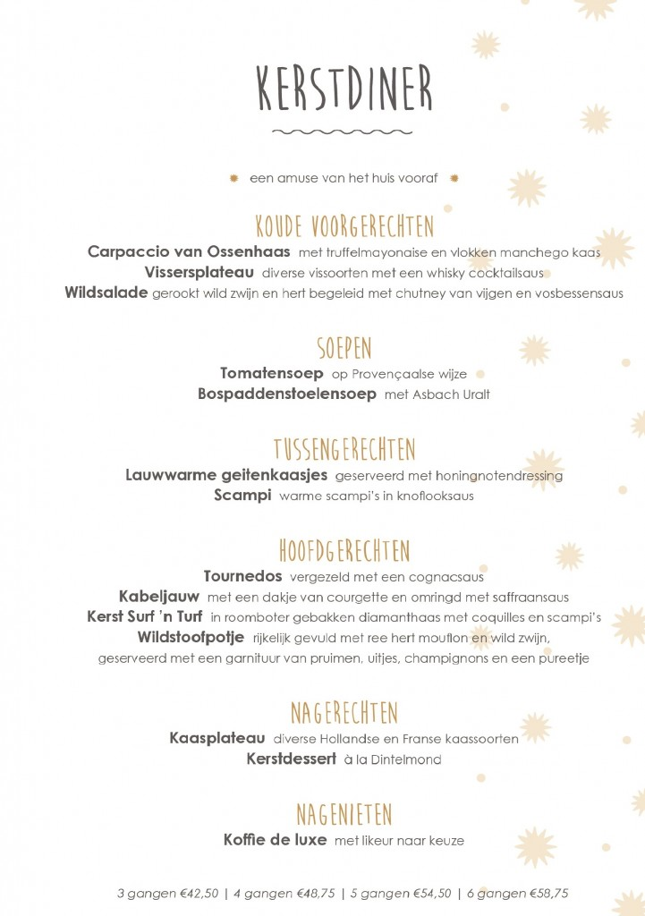 Kerstmenu 2017 restaurant dintelmond for Kerstbrunch rotterdam